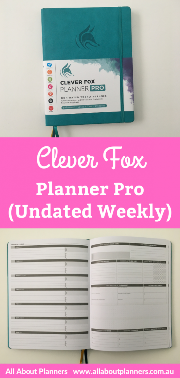 clever fox planner pro weekly dashboard layout pros and cons pen testing video review softcover us letter size 8.5 x 11 inch colorful sewn bound