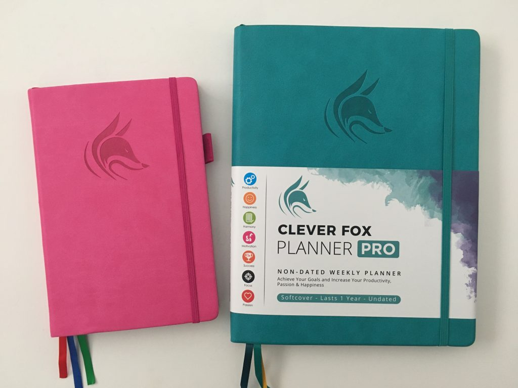 clever fox pro weekly planner review comparison with a5 size
