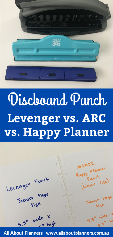 discbound punches comparison levenger versus arc happy planner review pros and cons