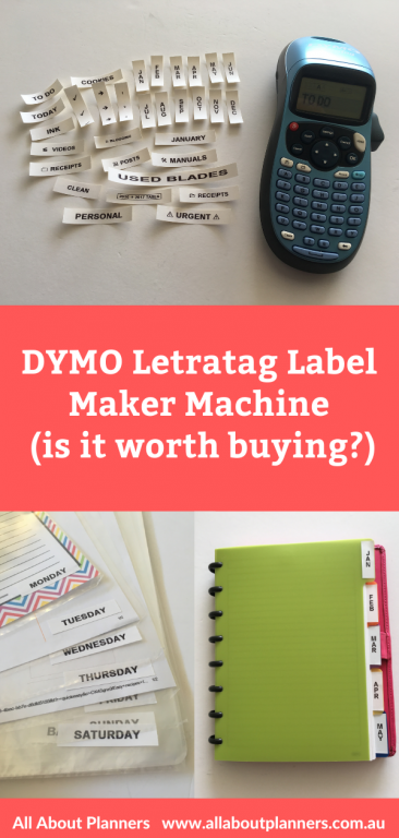 dymo letratag label maker machine is it worth buying review how does it work what can you make how to use labels tips ideas for organizing craft room back to school supplies