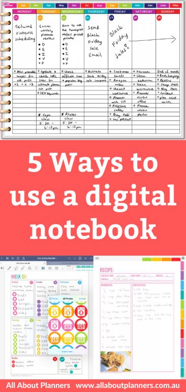 how to use a digital notebook functional planning tips inspiration ideas pros and cons recipe renovation travel planning apple pencil ipad