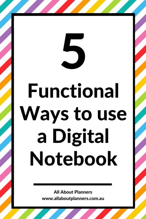 how to use a digital notebook inspiration ideas tips tutorial goodnotes zoomnotes noteability apple pencil ipad digital planning pros and cons review