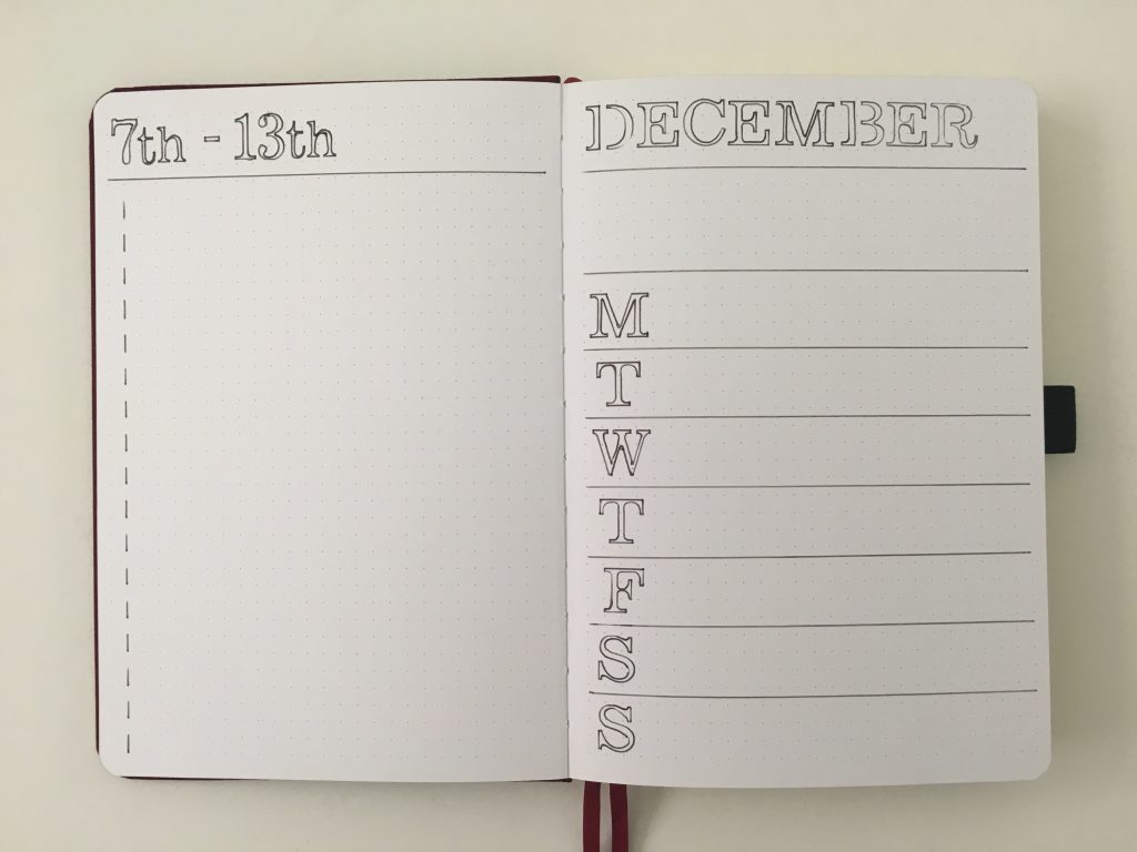 simple bullet journal weekly spread minimalist dashboard layout stencils archer and olive