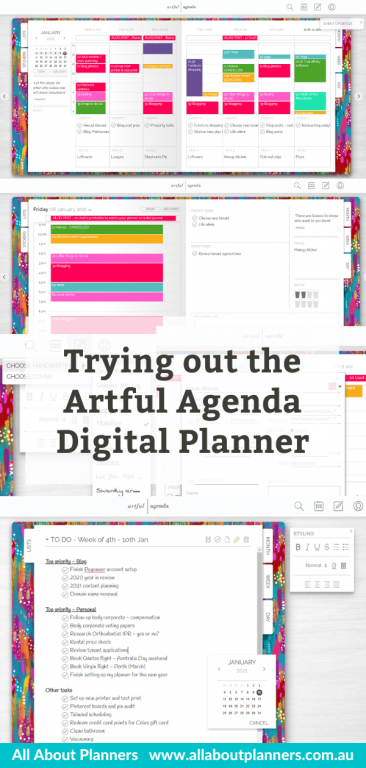 trying out the artful agenda digital planner desktop ipad iphone alternative to goodnotes review pros and cons all about planners