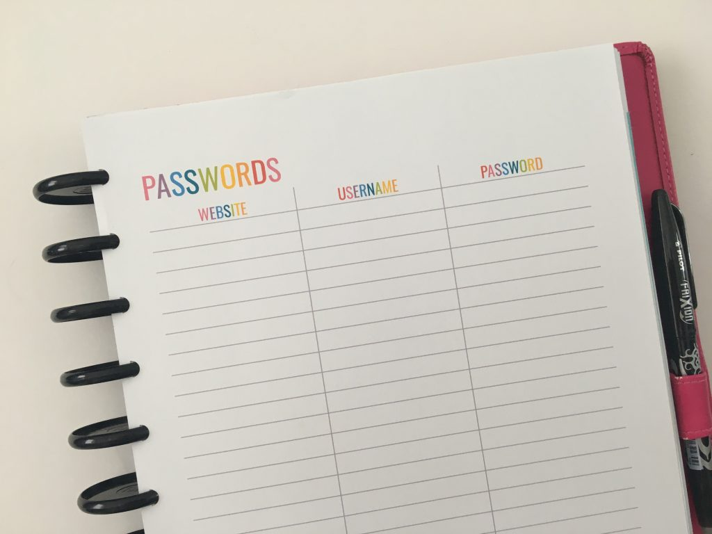 useful spreads your planner or bullet journal should have passwrord log printable all about planners recommendations for setting up a new planner
