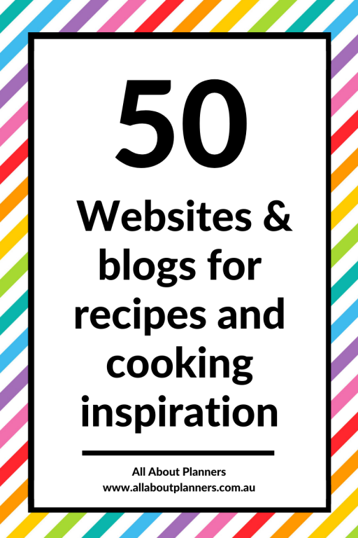 50 websites and blogs for recipes and cooking inspiration meal planning tips resources printable all about planners