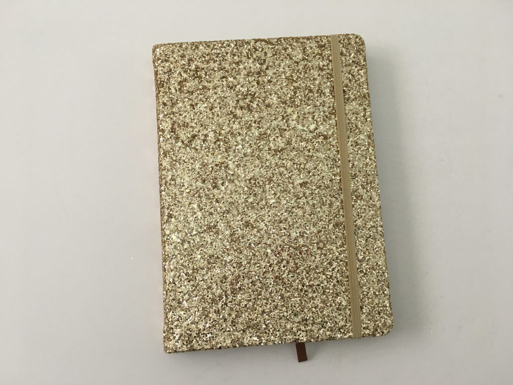 Kaisercraft glitter cover dot grid notebook bright white paper 5mm spacing australian bujo notebook pros and cons video review_01