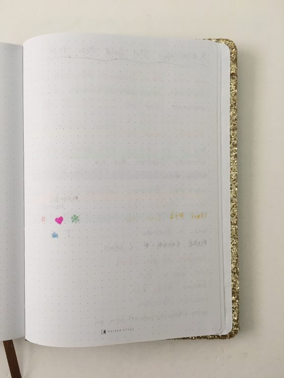 Kaisercraft glitter cover dot grid notebook bright white paper 5mm spacing australian bujo notebook pros and cons video review_08