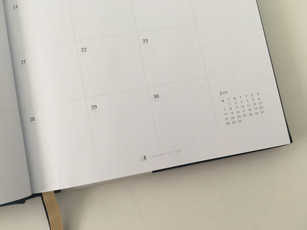 Kaisercraft weekly planner review pros and cons monday week start horizontal video pen testing australian planner brand_11