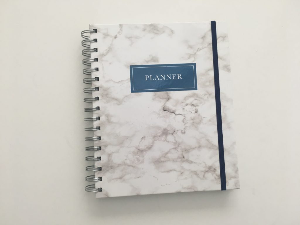 Kit Life Planner review daily undated pros and cons video review 1 page per day 2 page monthly spread planner stickers pastel marble cover_01