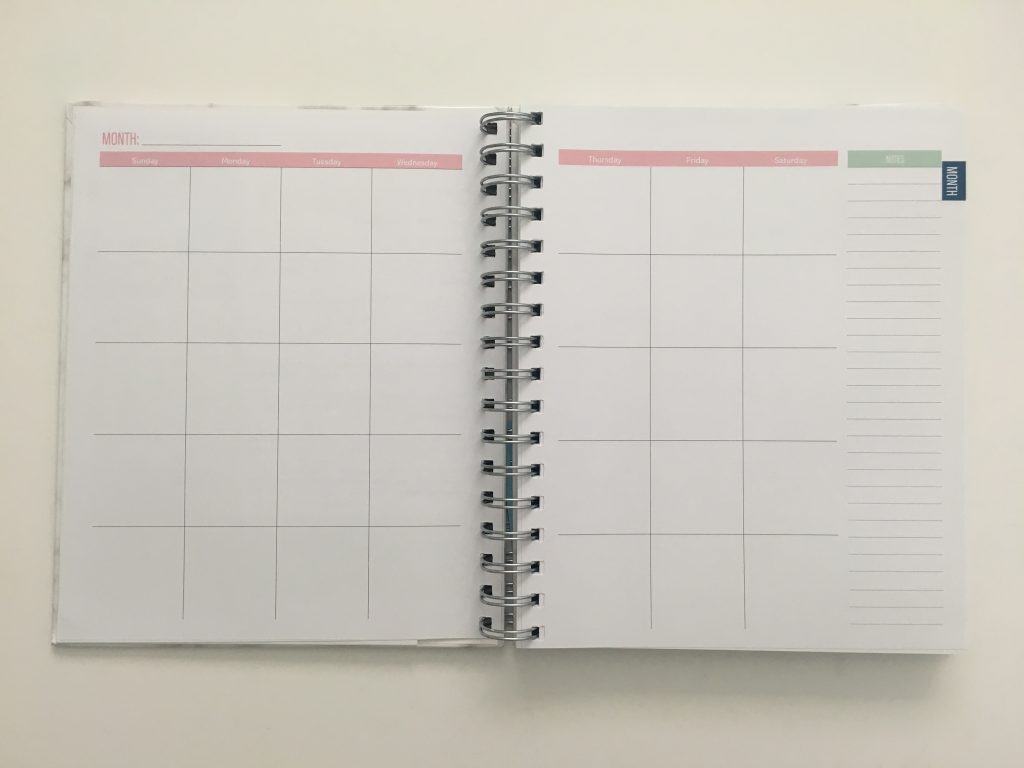 Kit Life Planner review daily undated pros and cons video review 1 page per day 2 page monthly spread planner stickers pastel marble cover_05