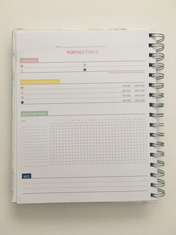 Kit Life Planner review daily undated pros and cons video review 1 page per day 2 page monthly spread planner stickers pastel marble cover_08