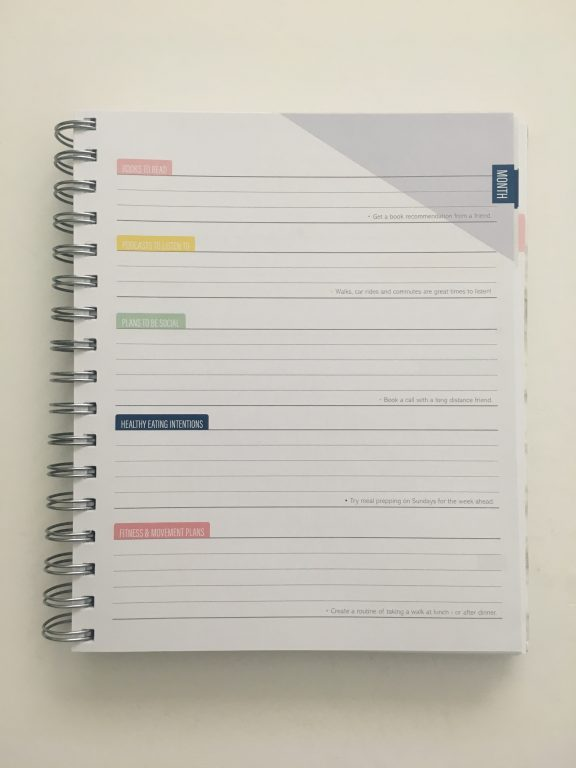 Kit Life Planner review daily undated pros and cons video review 1 page per day 2 page monthly spread planner stickers pastel marble cover_09