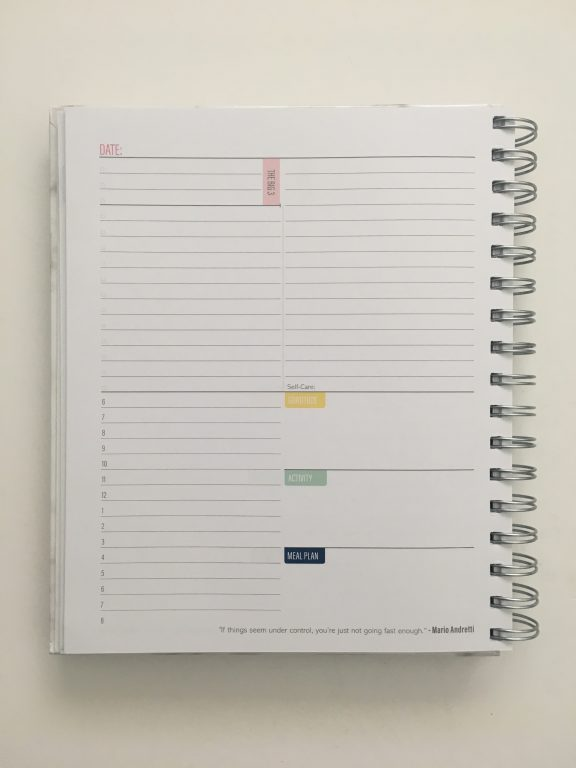 Kit Life Planner review daily undated pros and cons video review 1 page per day 2 page monthly spread planner stickers pastel marble cover_10
