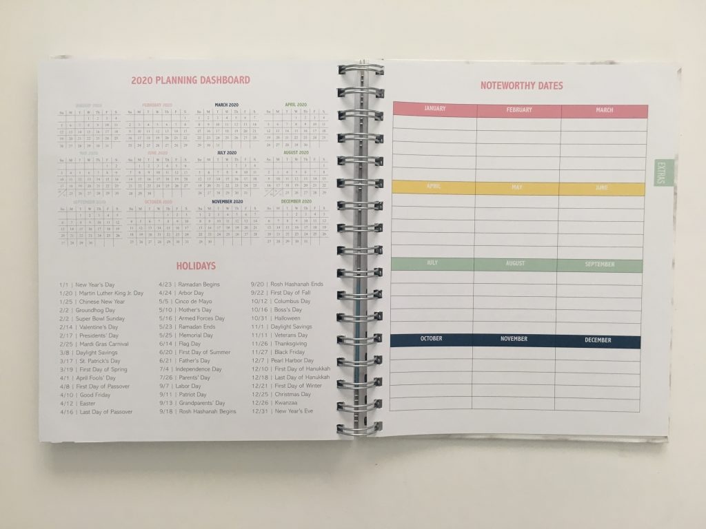 Kit Life Planner review daily undated pros and cons video review 1 page per day 2 page monthly spread planner stickers pastel marble cover_15