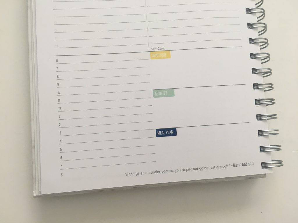 Kit Life Planner review daily undated pros and cons video review 1 page per day including weekends schedule from 6am to 9pm