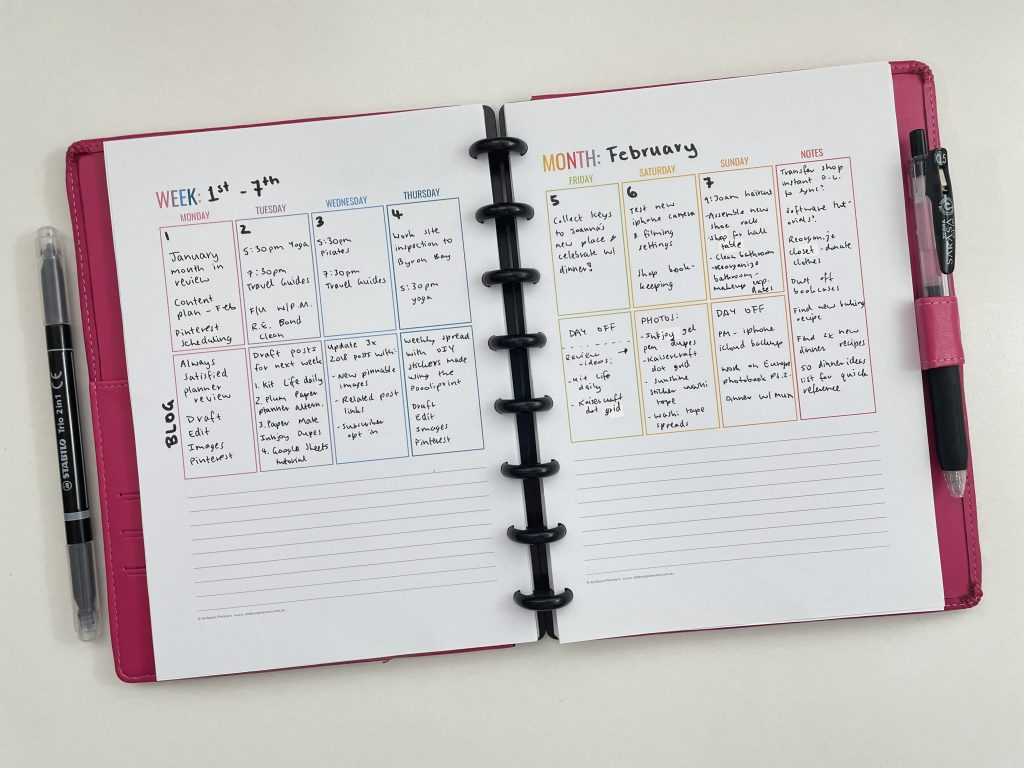 how to resize printables to a5 page size for your arc planner editable printable pdf vertical weekly layout rainbow all about planners