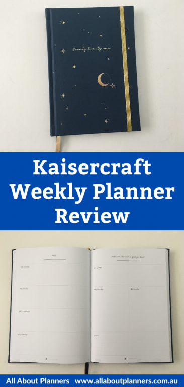 kaisercraft weekly planner review pros and cons video flipthrough australian planner pen testing paper quality horizontal spread monday week start