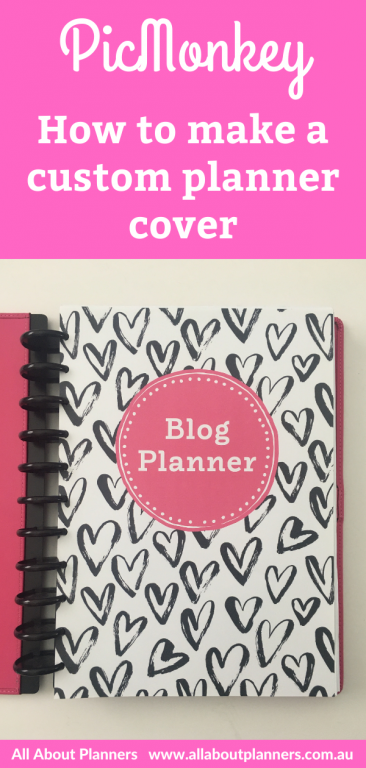 picmonkey how to make a custom planner cover notebook binder cardstock laminate personalised diy happy planner erin condren or any other page size tutorial