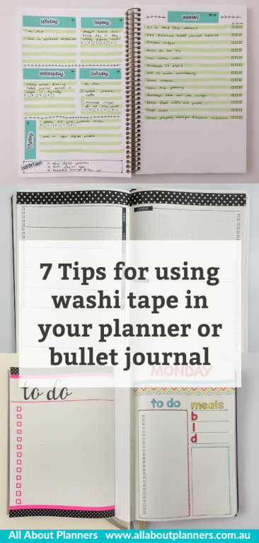 7 tips for using washi tape in your planner or bullet journal inspiration spread layouts