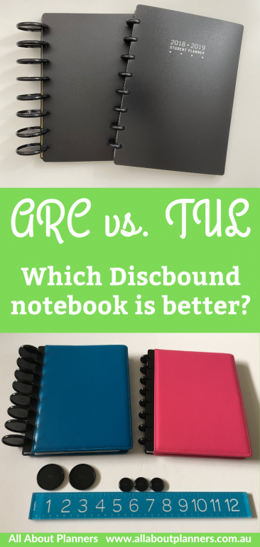 arc versus tul discbound planner comparison pros and cons which notebook is better leather poly page size disc size spacing compatibility