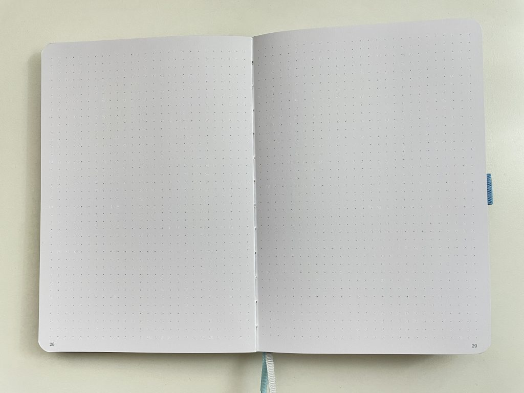 dot grid notebook australia bright white paper thick 160 gsm pen testing paper quality video flipthrough