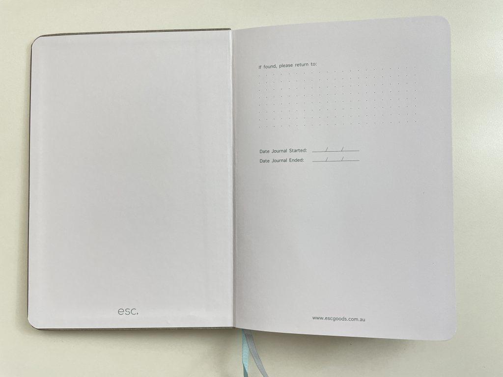 esc goods australian bullet journal notebook review 5mm dot grid bright white 160 gsm thick paper