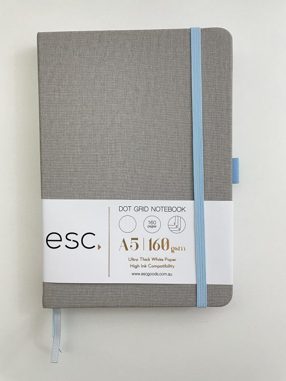 esc goods bullet journal review australia 160 gsm pros and cons paper quality pen testing aussie bujo 5mm