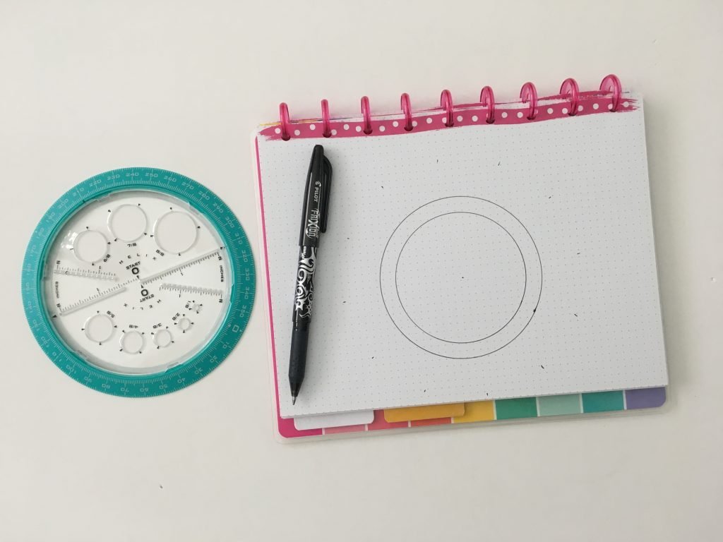 helix circle maker review for bullet journaling birthdays calendar anniversaries how to use it draw perfect circles in your bujo