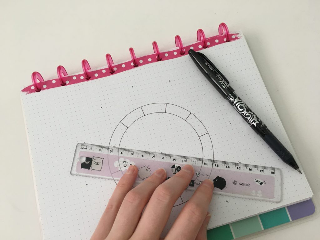 helix circle maker tutorial for bullet journaling bujo how to make a habit tracker birthdays calendar monthly spread