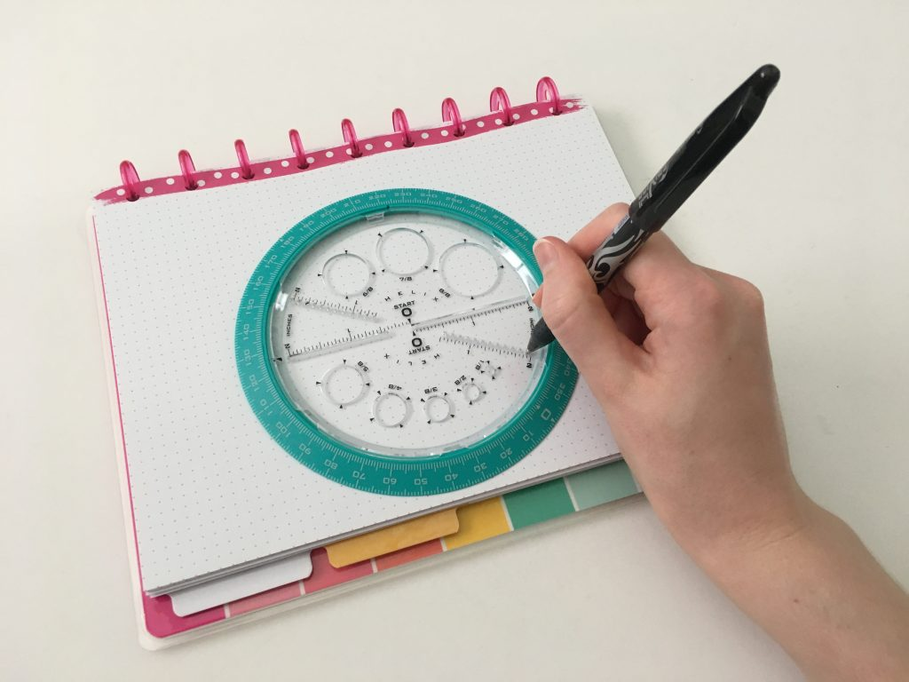 how to use the helix circle maker for bullet journaling step by step tutorial all about planners best amazon planner supplies