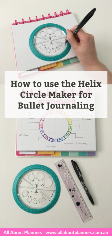 how to use the helix circle maker for bullet journaling tips tutorial favorite time saving planning tools amazon planning supplies bujo