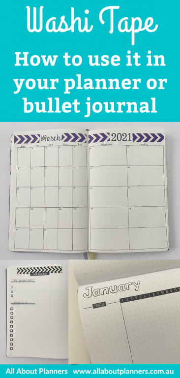 how to use washi tape in your planner or bullet journal tips ideas inspiration hacks monthly calendar weekly spread habit tracker washi tape