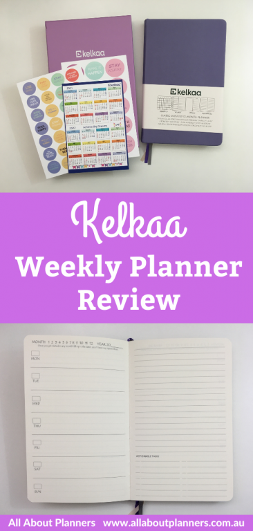 kelkaa weekly planner review pros and cons dashboard layout a5 page size minimalist pen testing ghosting bleed through
