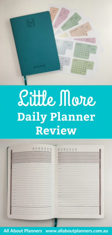 little more daily planner review undated day to a page layout priority checklist no timed schedule lined writing video flipthrough all about planners