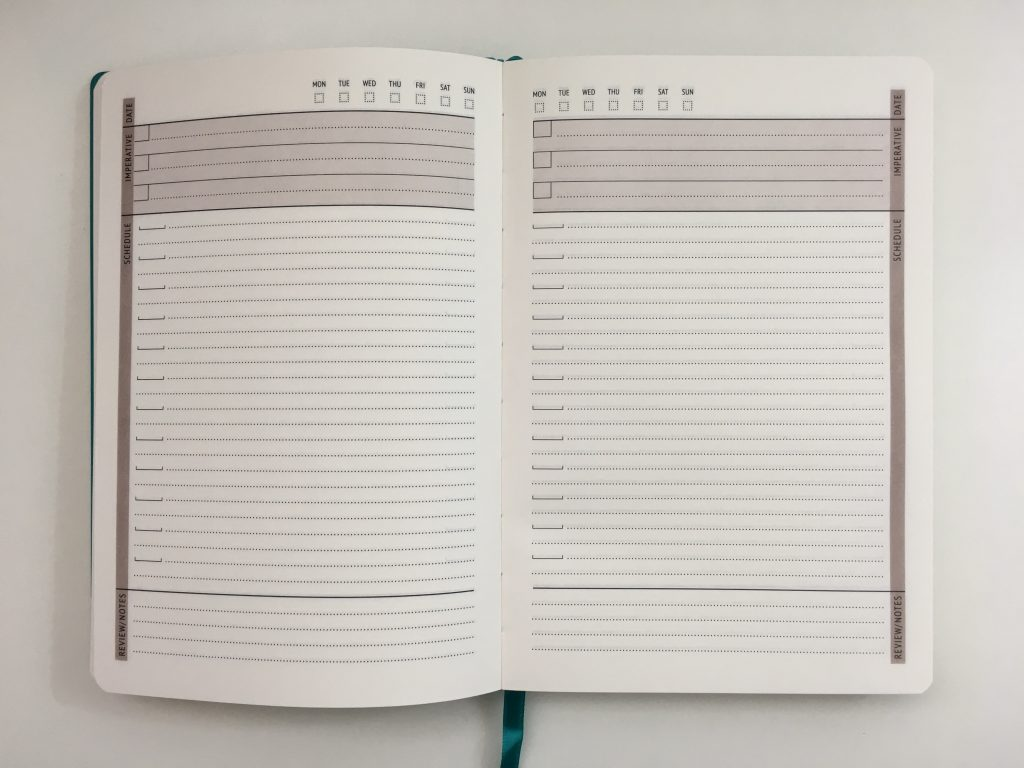 little more daily planner review undated day to a page simple minimaist no schedule top 3 priority checklist a5 page size any year