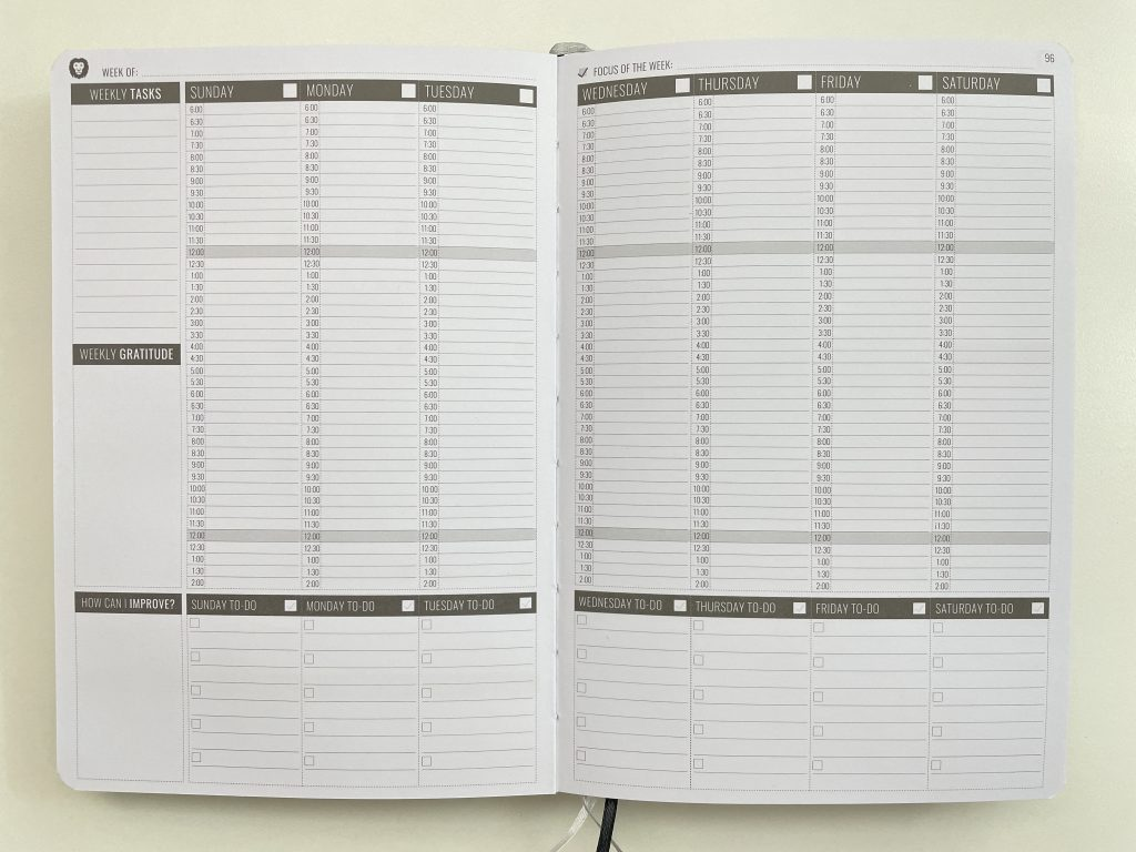 power planner vertical hourly weekly planner review pros and cons half hour checklist for each day minimalist