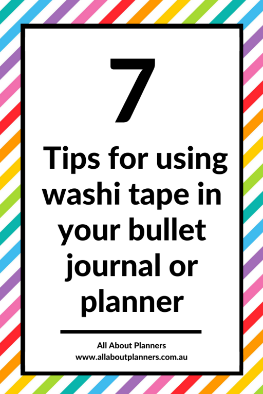 washi tape bullet journal planner tips inspiration ideas how to use functional monthly weekly daily spread checklist color coding habit tracking