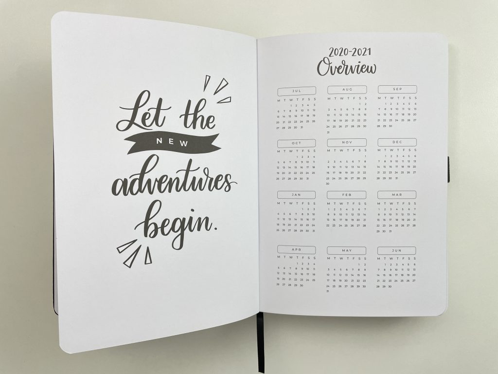 Amanda rach lee doodle planner academic year review annual overview page