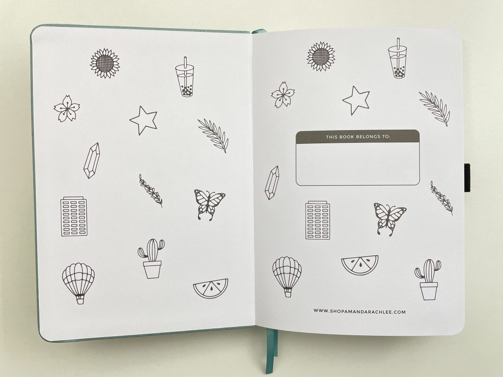 Amanda rach lee dotted notebook a5 review pros and cons teal gold foil doodles pen test 160 gsm bright white paper