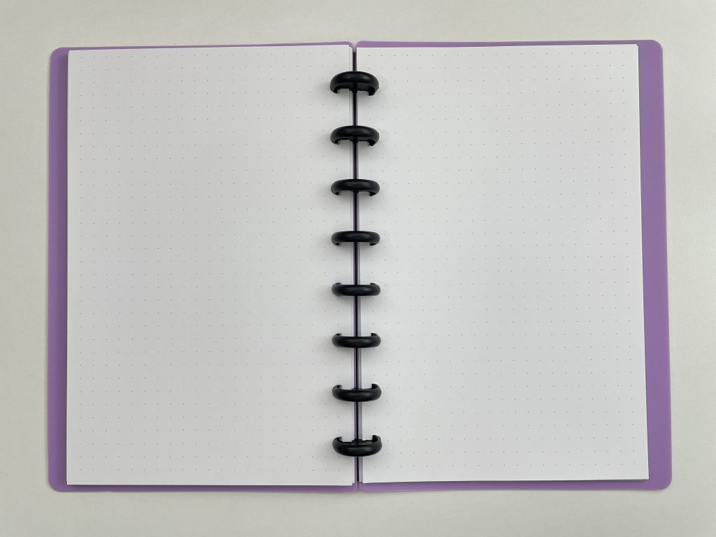 Eleven discs discbound notebook review A5 dot grid pen testing comparison with ARC TUL amazon_07