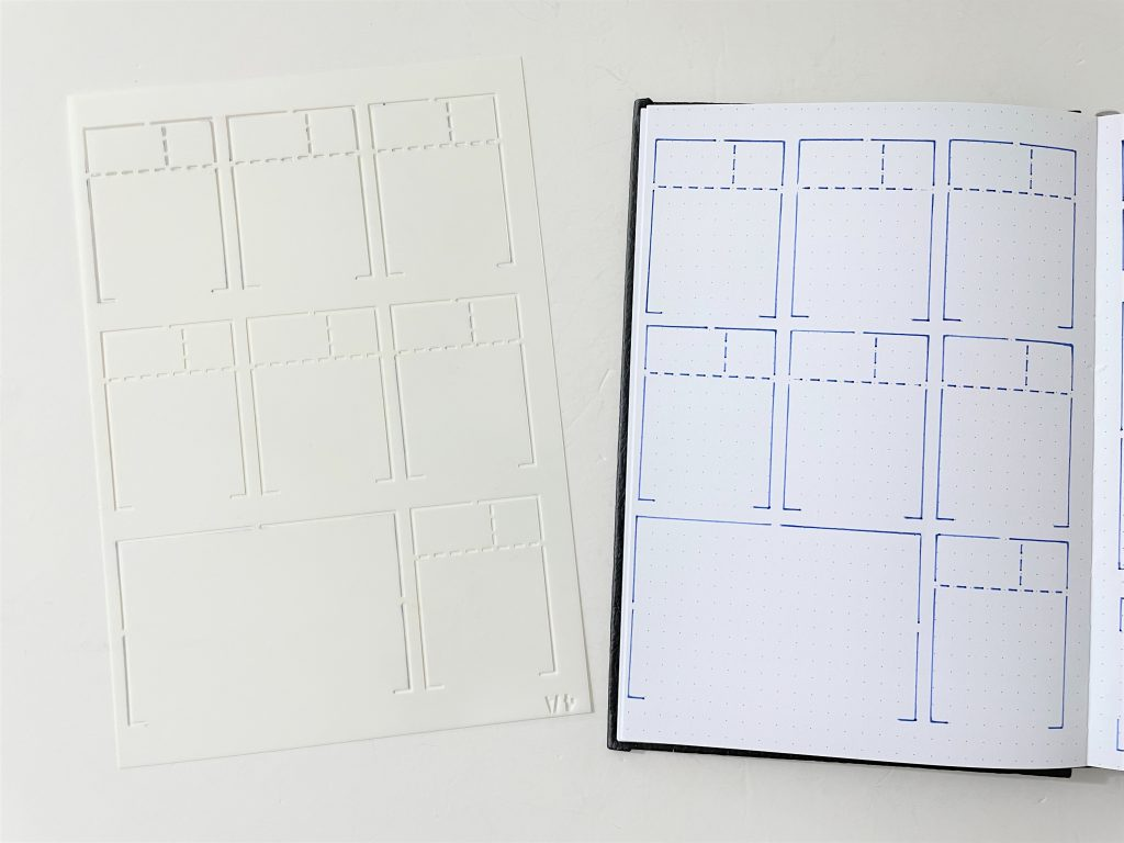 Sunny streak speedy spreads stencil daily weekly monthly calendar planning layout horizontal boxes simple quick easy