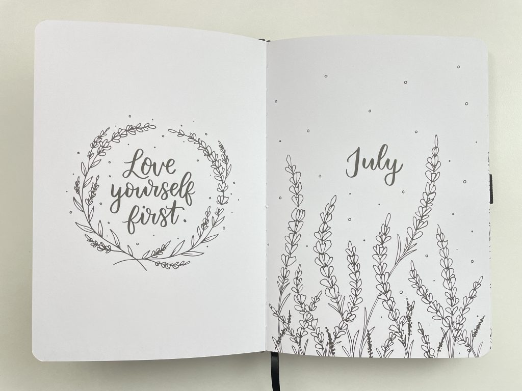 amanda rach lee doodle planner review monthly cover page floral stargazer city scape themed spreads