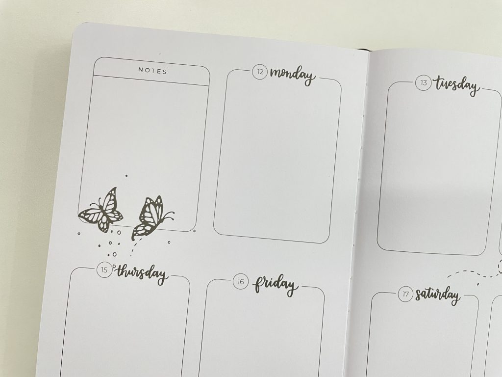 amanda rach lee doodle planner weekly spread vertical simple layout pros and cons