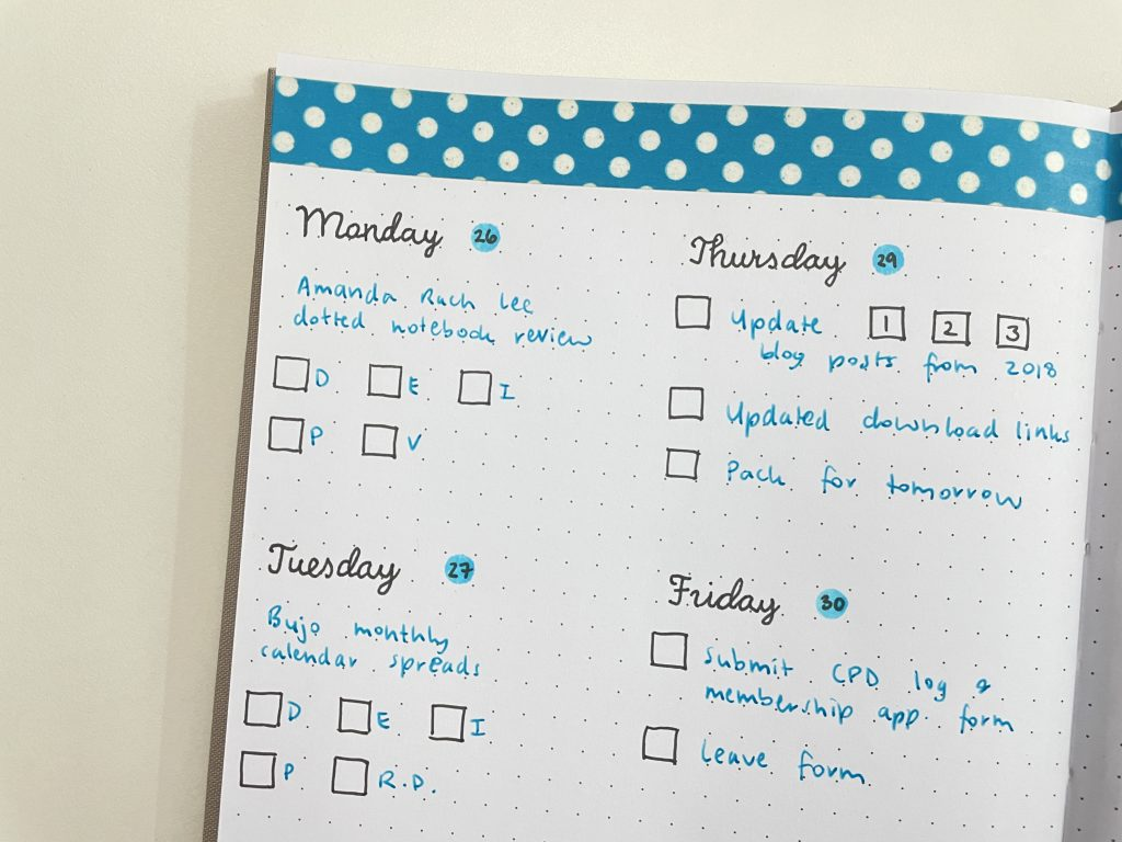 how to make a diy stencil for bullet journal weekly spread simple tombow play color dot marker
