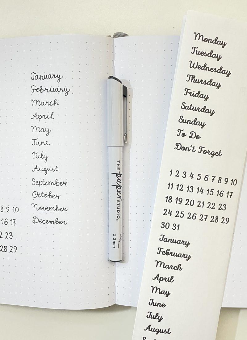 how to make diy planner alphabet stencils simple minimalist cursive script font all about planners bullet journal bujo
