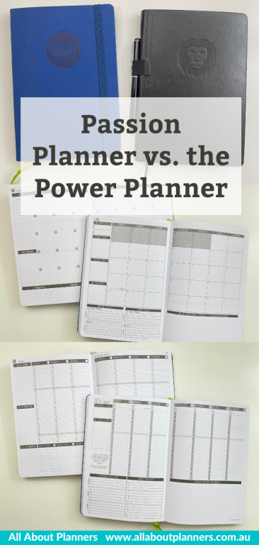 passion planner versus power planner review pros and cons comparison alternatives a5 letter size minimalist sunday week start monthly calendar