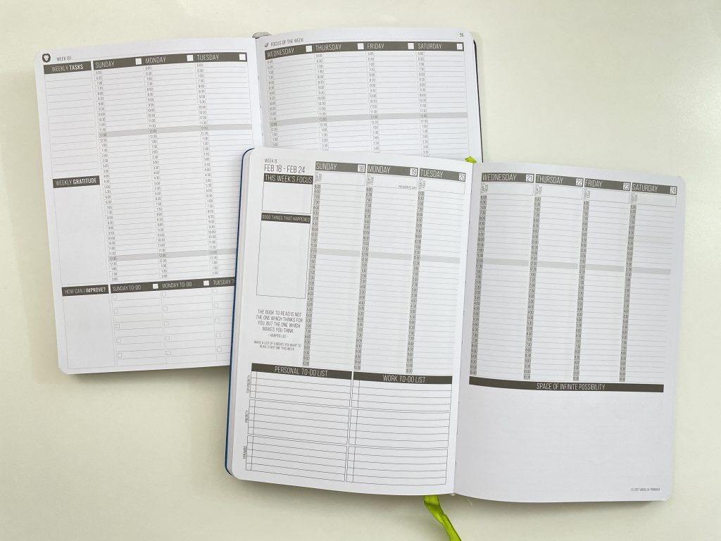 power planner weekly vertical half hourly comparison with the passion planner a5 page size minimalist gender neutral sunday week start video flipthrough