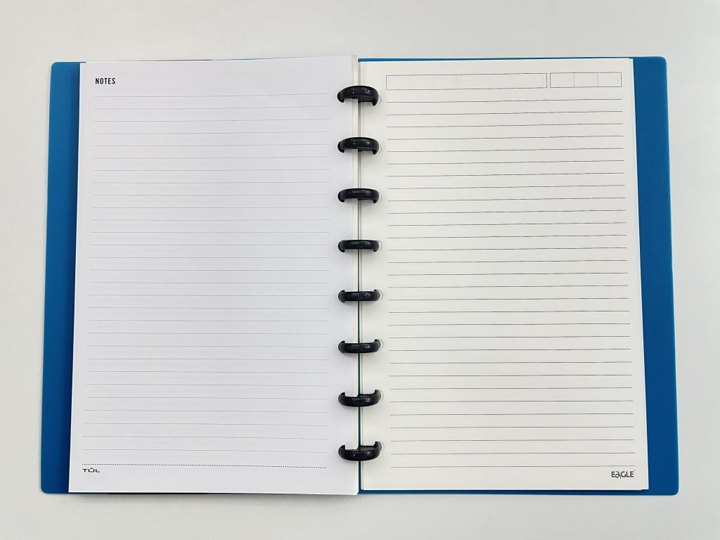 TUL half us letter refill pages in the eagle discbound notebook review pros and cons pen testing paper
