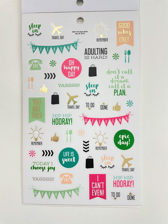 agenda 52 planner sticker book functional icons lists review functional decorative stickers for bullet journaling